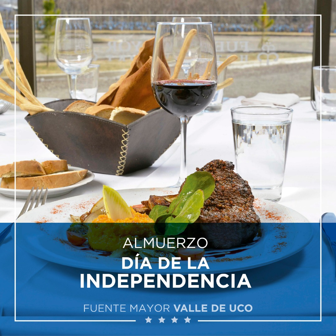 Menú Día de la Independencia - Fuente Mayor Hotel Resort